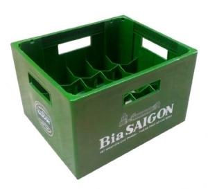 Két bia nhựa 20 chai Bia Sài Gòn cao cấp Phú Hòa An