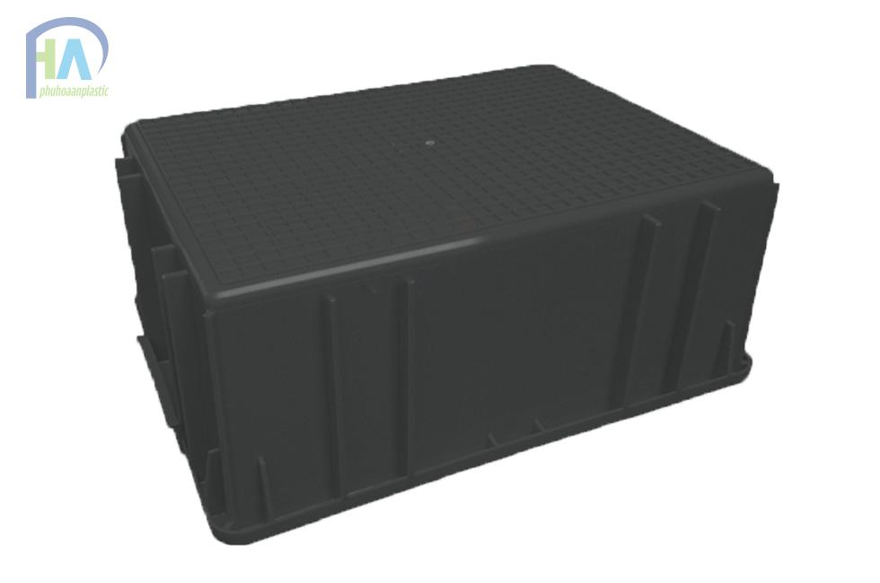 Mặt đáy thùng nhựa đặc B3 màu đen