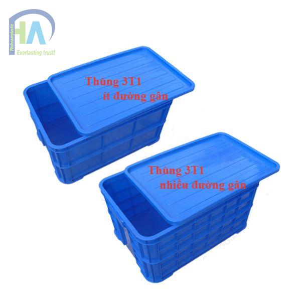 Thùng nhựa đặc 3T1 dày dặn