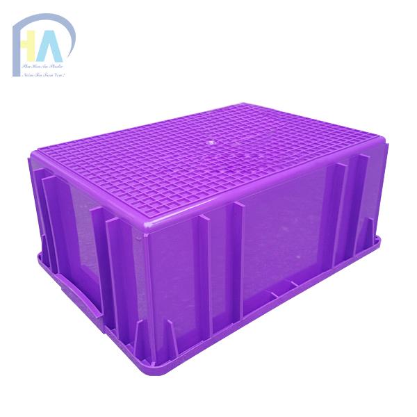 Mặt đáy thùng nhựa đặc B3 màu tím