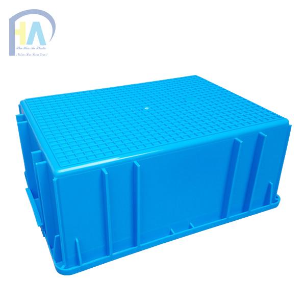 Mặt đáy thùng nhựa đặc B3 màu xanh dương