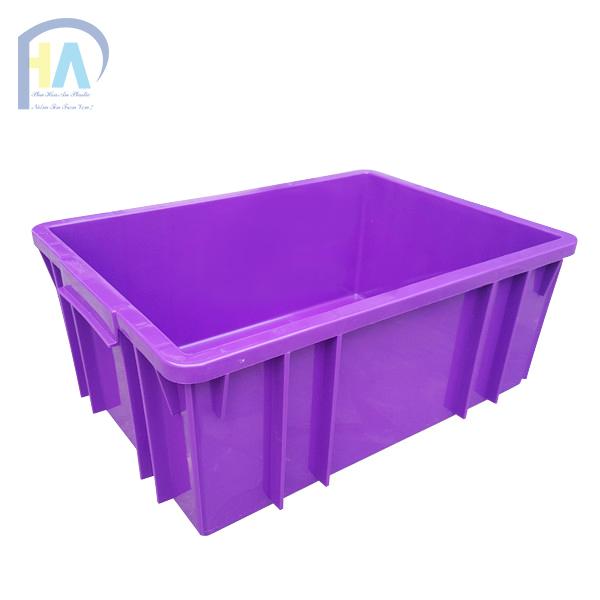 Thùng nhựa đặc B3 màu tím chất lượng cao